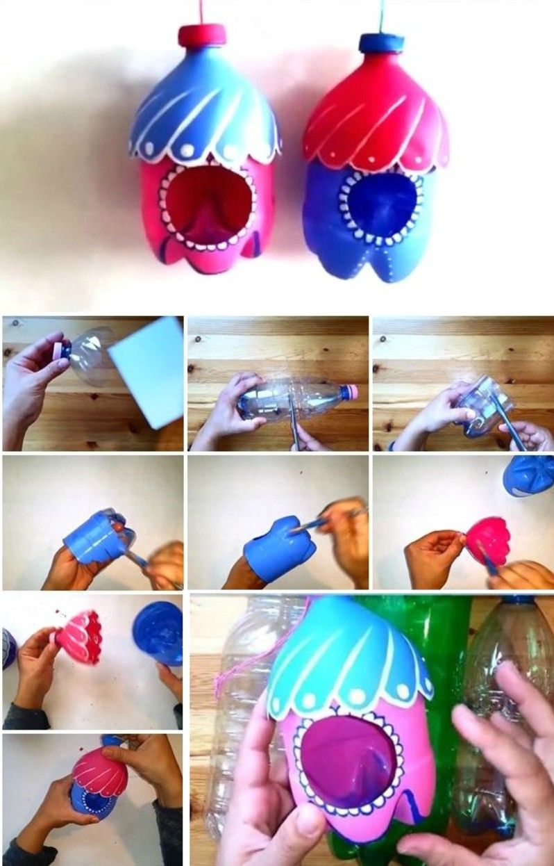 Plastic Bottle Bird Feeder Craft Super