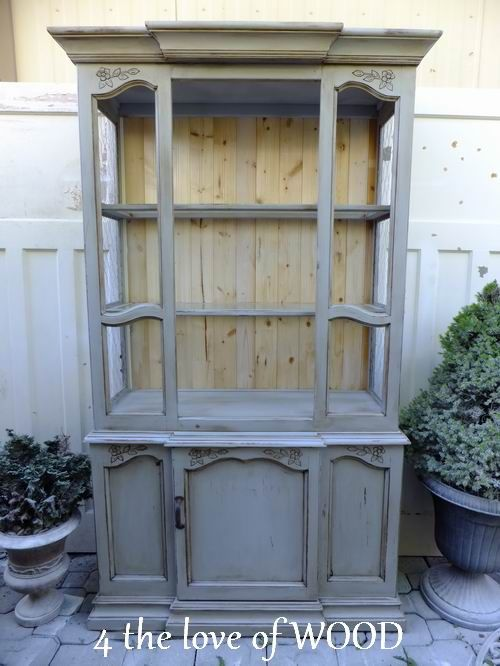 MAKING AN OPEN AIR DISPLAY CABINET   Farmhouse Grey China Cabinet