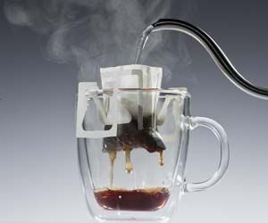 Now this is clever, coffee drip bags, CaffeBorsa.com