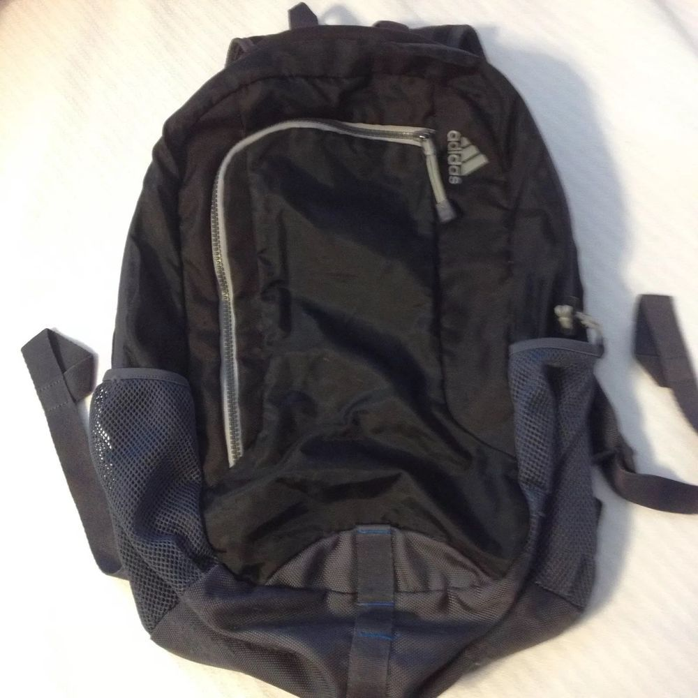 Adidas Climaproof Formotion Backpack Black and Gray with blue accents   fashion  clothing  shoes  accessories  unisexclothingshoesaccs   unisexaccessories ... 4b428c4a6a