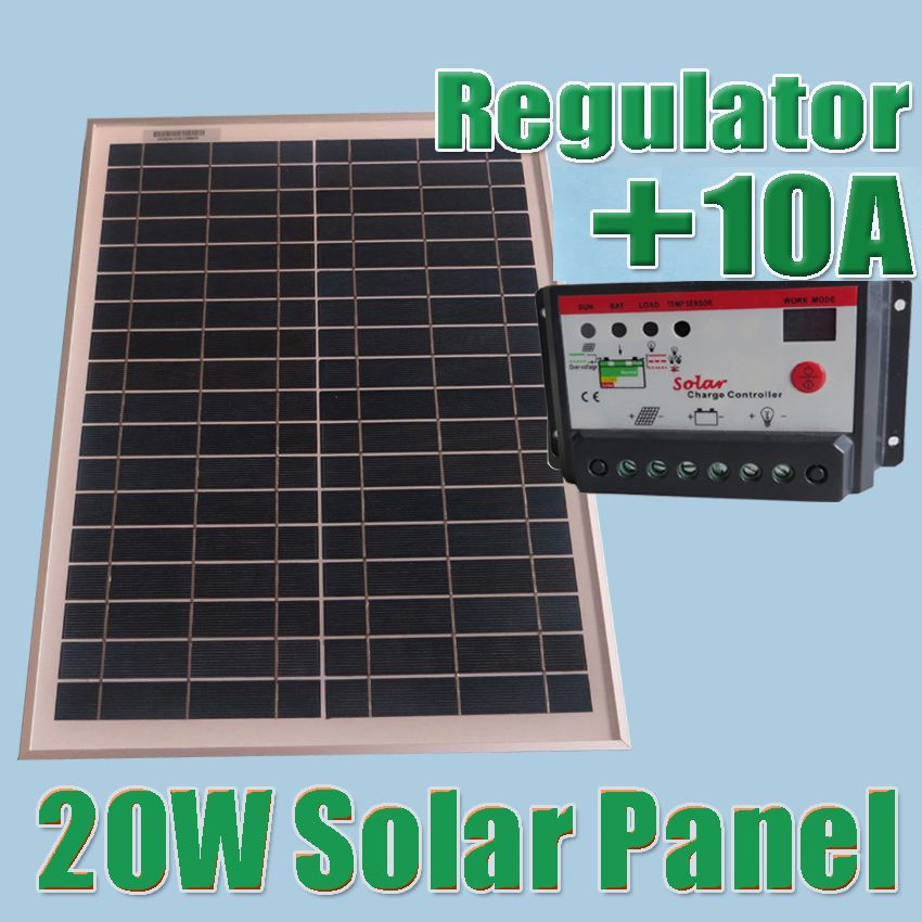 20w Solar Panels 10a 12v 24v Solar Controller 18v Solar Cell Panels Charger 12v Battery Solar Panels Diy Solar Panel Cheap Solar Panels