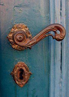 Old Door Handle U0026 Keyhole