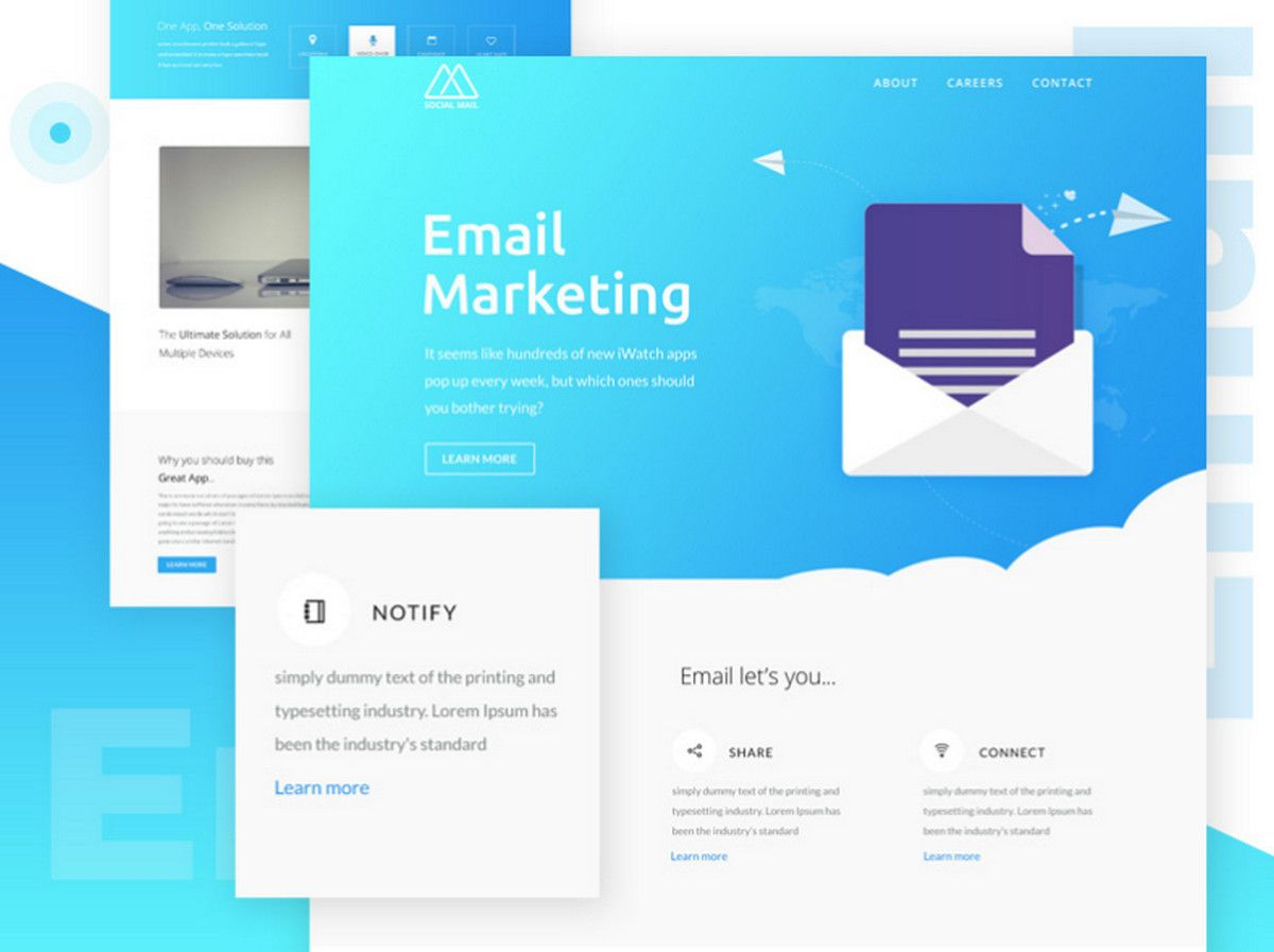 Free Html Email Newsletter Templates Designmodo Email Newsletter Template Email Newsletter Design Email Template Design Simple html email template free