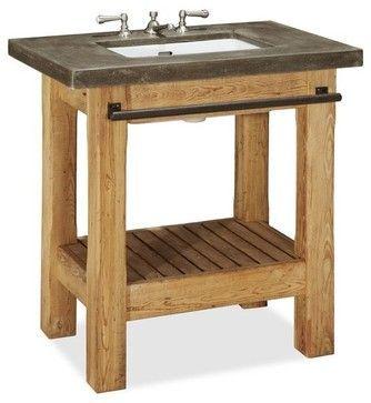 Abbott Single Sink Console - rustic - Bathroom Vanities And Sink