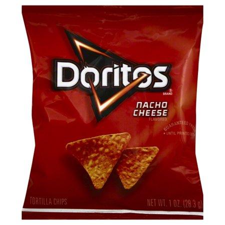black and red bag of doritos