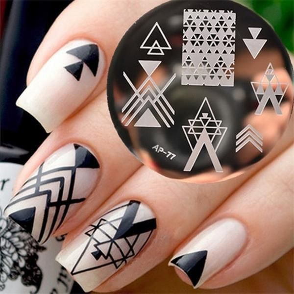 DIY Nail Art Stencil Stamping Template Series   Products   Pinterest ...