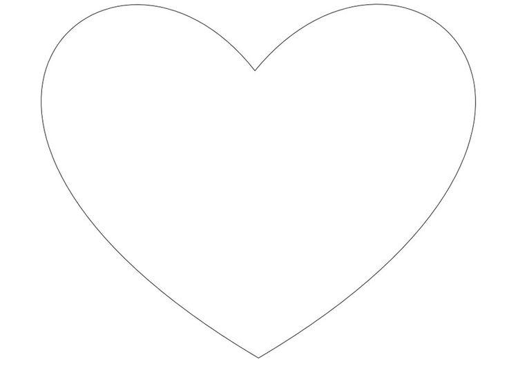 Dibujo para colorear Corazón simple | Ideas para el hogar ...