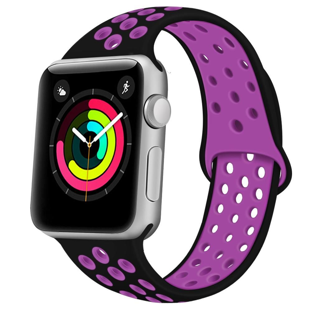 Adepoy Apple Watch Soft Silicone Replacement Bands. Black