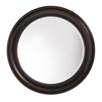 "Martha Stewart Living ""Tahoe"" mirror. One of the few reasonably priced round mirrors I've seen."