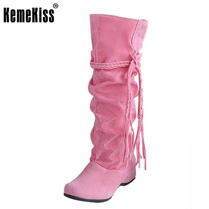 a87134f8578 RizaBina women flat over knee boots ladies riding long snow boot warm winter  brand botas footwear shoes EUR size