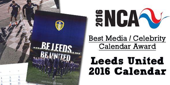 Leeds United Winning Award at National Calendar Awards 2016