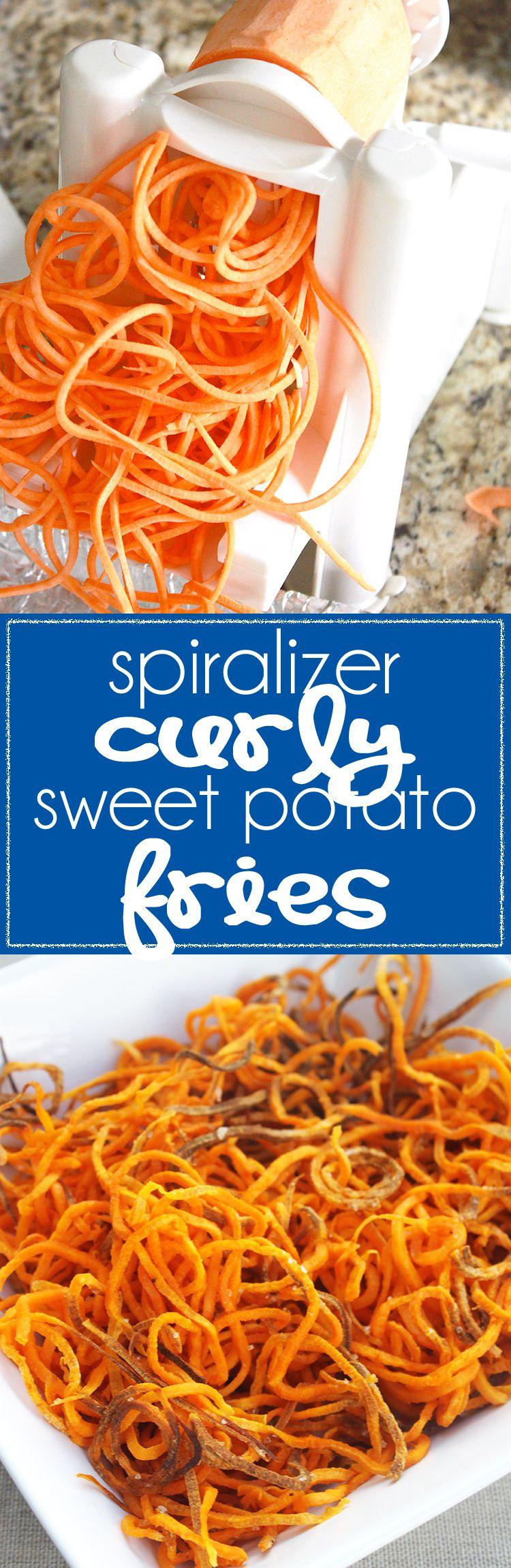 Spiralizer Curly Sweet Potato Fries Air fryer healthy