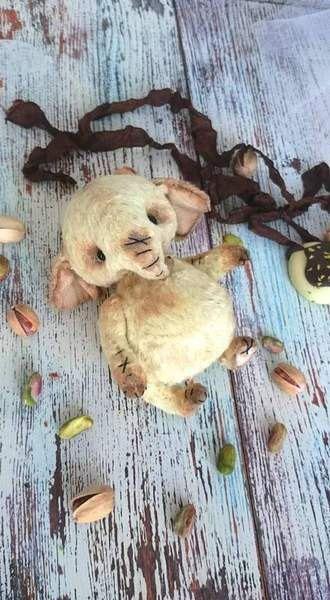 ooak Elefantino teddy Pistacchio giocatolo di villaParadisoC