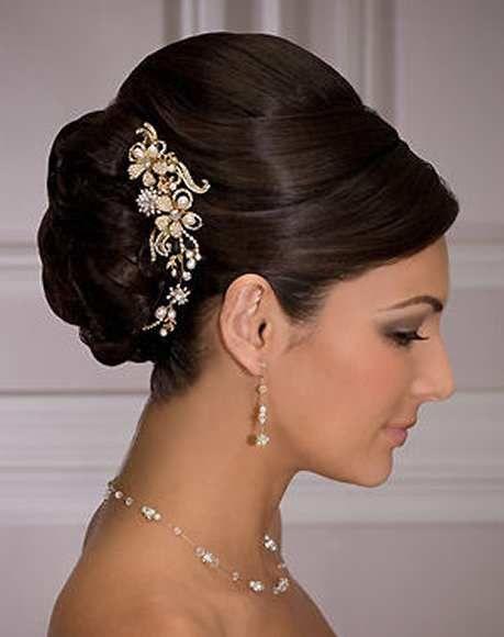 Peinados para novia cabello recogido