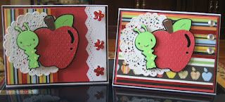 More teacher appreciation cards that I whipped together this morning. I used CAC cricut cart and Doodlecharms. Enjoy