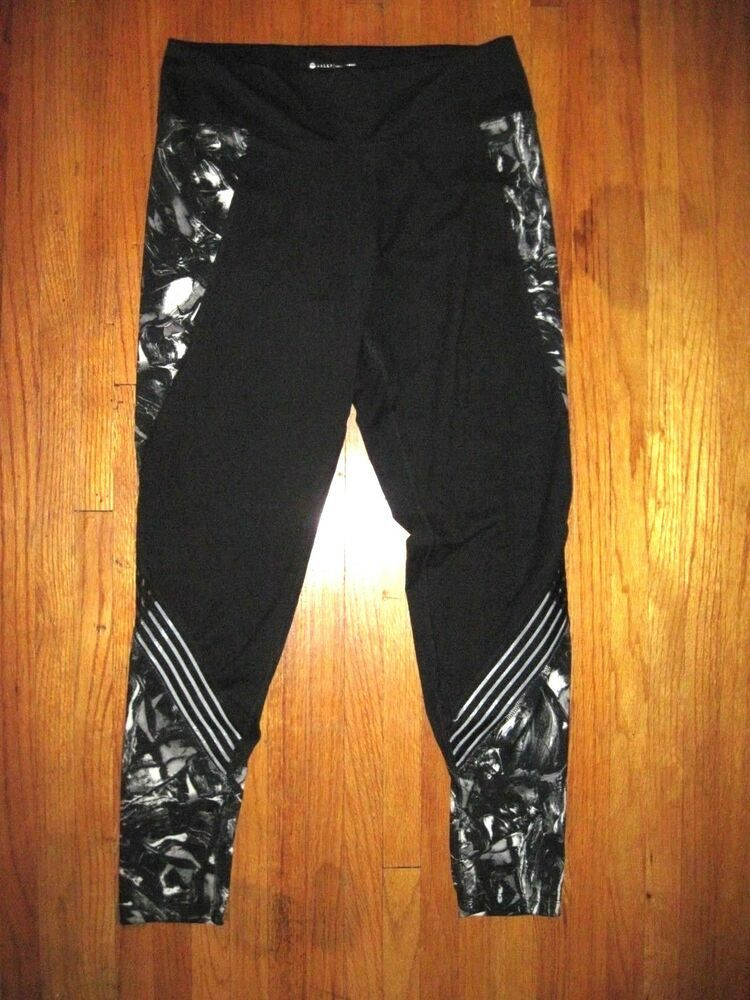 f33e9407e6e4a Ad)eBay - Bally High Waist Black/Gray Mesh Leg Spandex Fitness Yoga ...