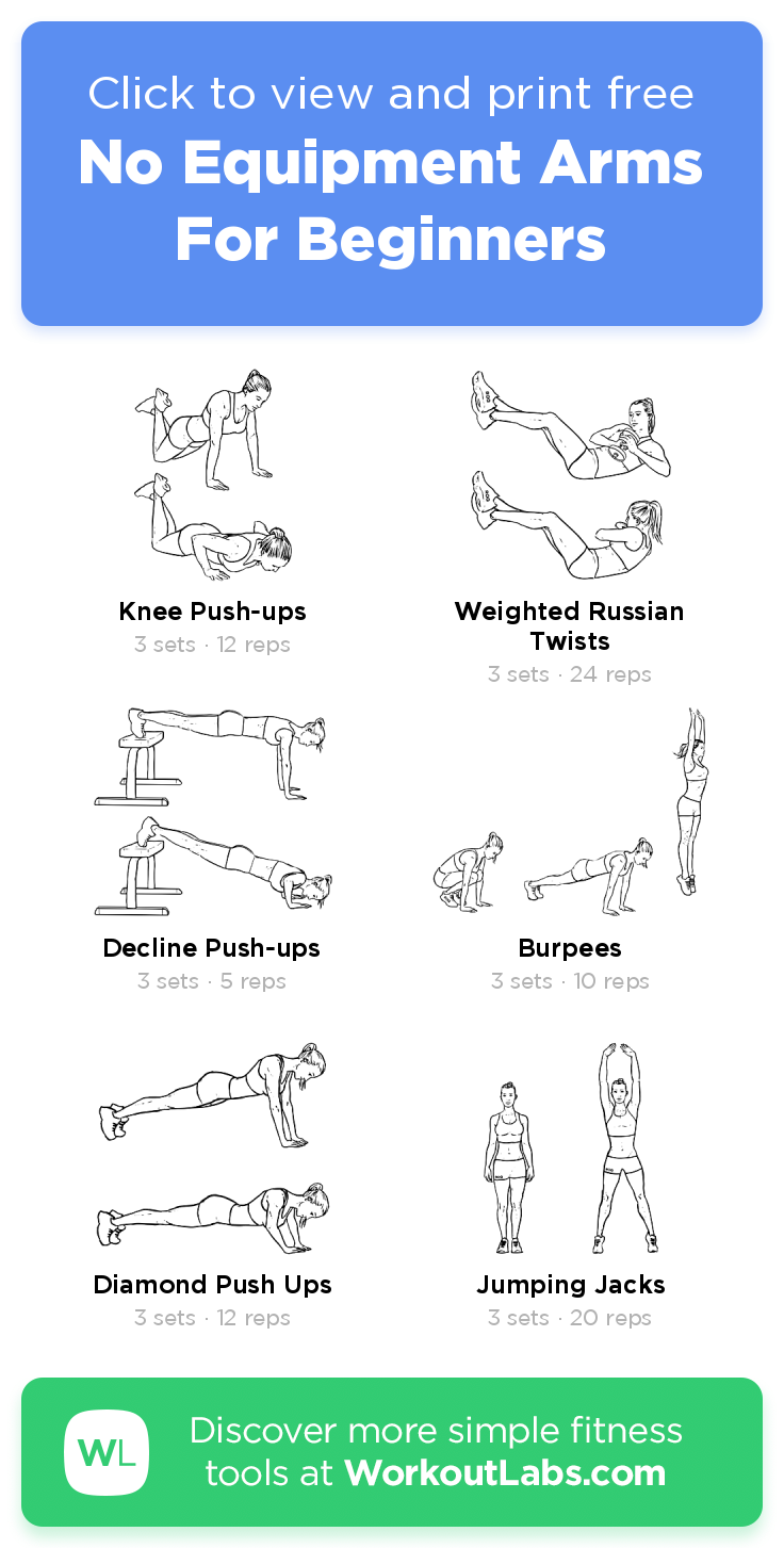 No Equipment Arms For Beginners · WorkoutLabs Fit