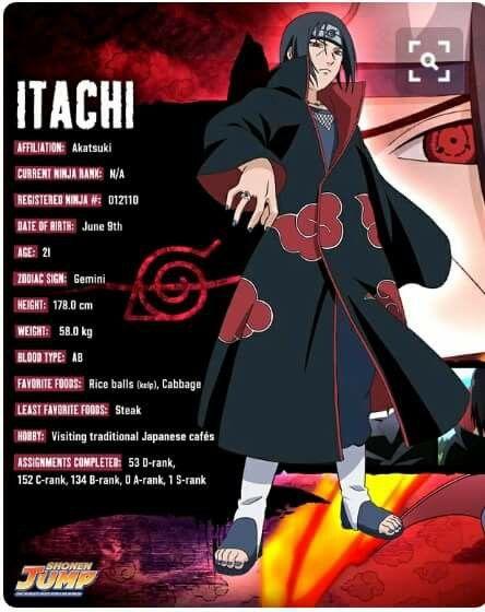 Itachi Uchiha Basic Info ♥♥♥ #Shippuden #Akatsuki