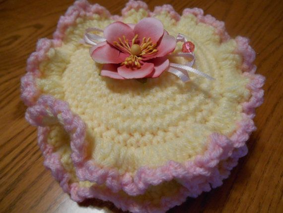 Crocheted Round Storage Box by Cozybabyblankets on Etsy, $14.00