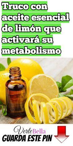 Bajar peso limon esencial de para de aceite
