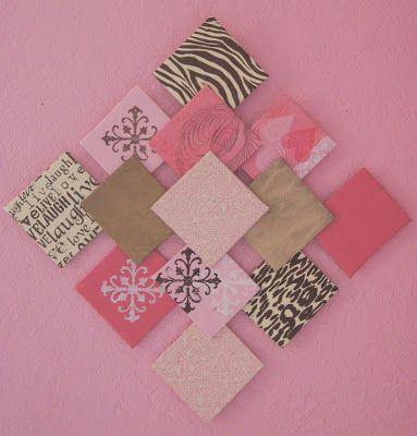 Pretty Little Inspirations Diy Paper Wall Art And Paper Flowers Scrapbook Paper Wall Art Diy Wall Art Crafts For Teens