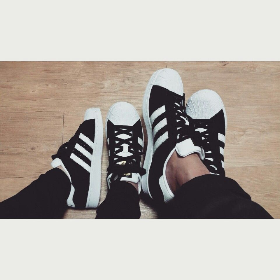 adidas. Superstar. Black & White. Couple Shoes