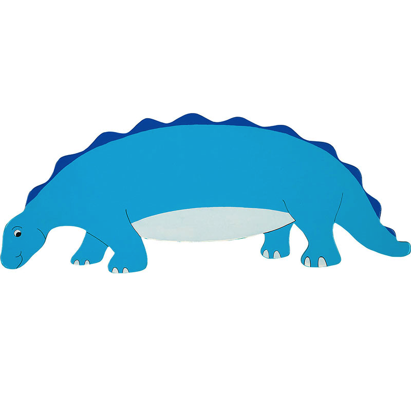 Fair Trade Blue Dinosaur Name Plaque  Max 7 Wooden Animal
