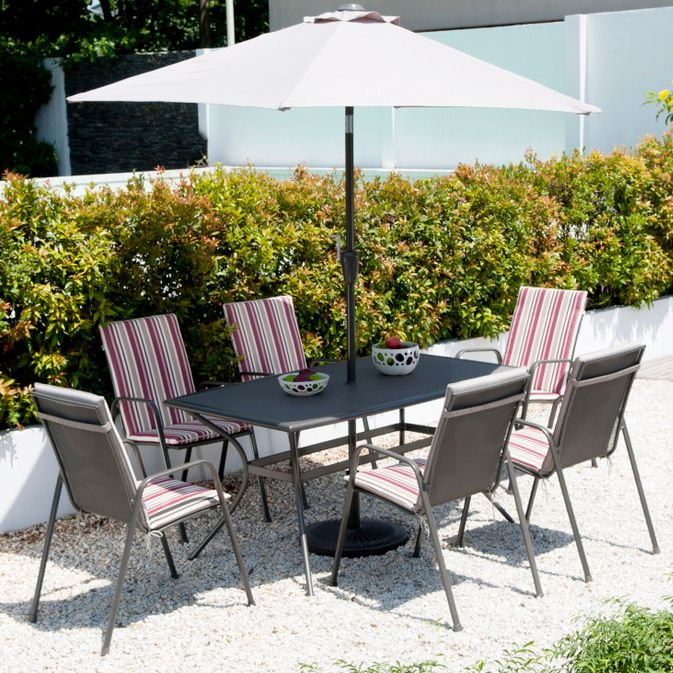garden furniture davos 6 seater suite
