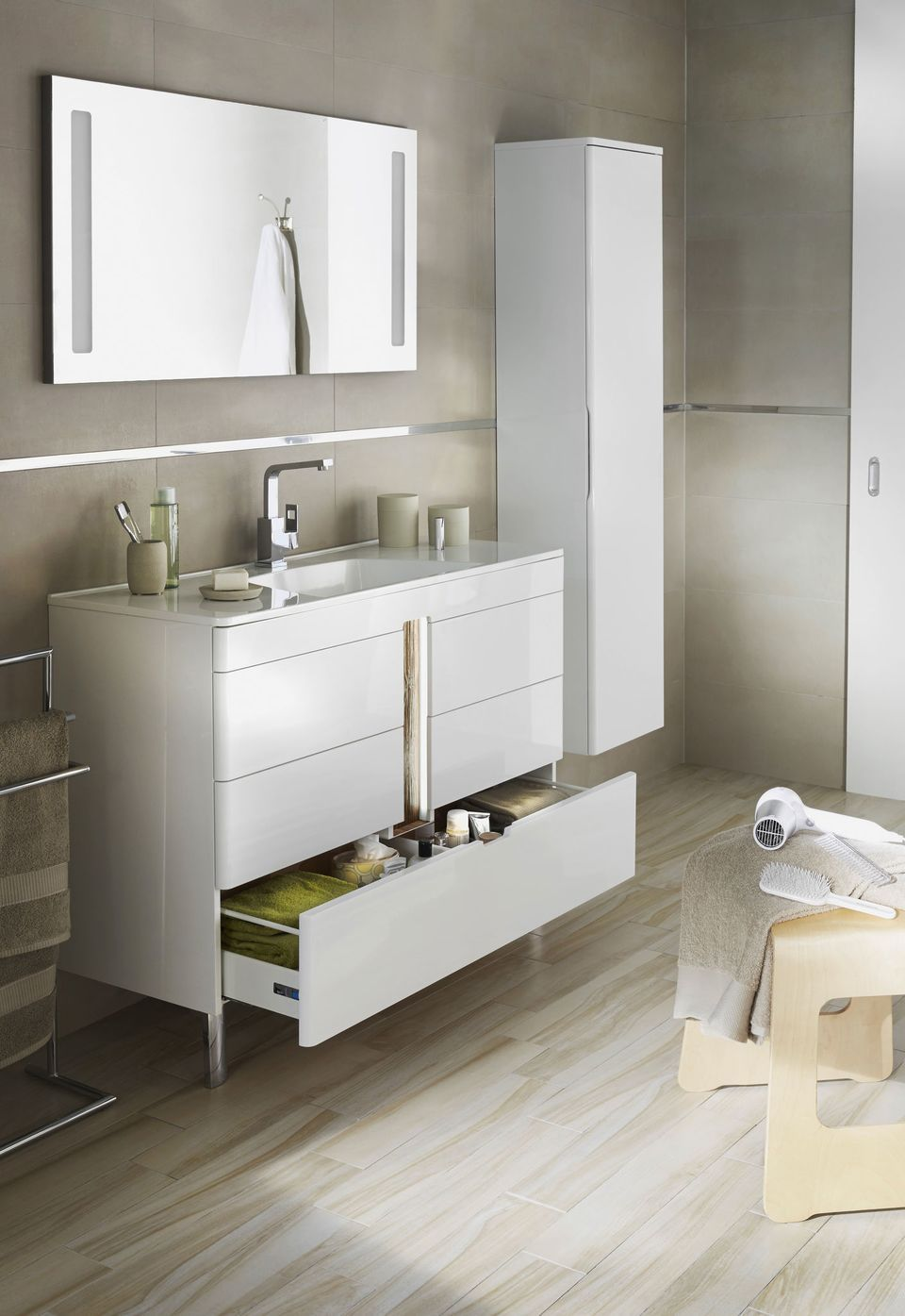 Salle de bains Lapeyre : les nouveaux meubles de salle de bains