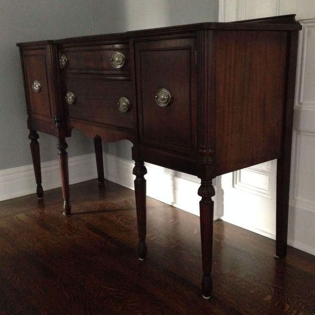 Image Of 1940 S Duncan Phyfe Sideboard Buffet Refinished Furniture