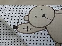 Textil - Zimné rýchlozavinovačka s medveďom na šnúre - 4791299_