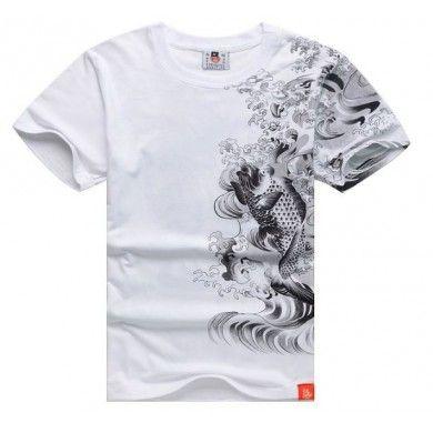 Koi Fish Yakuza T Shirt Japanese Tattoo Streetwear Hip Hop Swag Design 6c40ca31b93