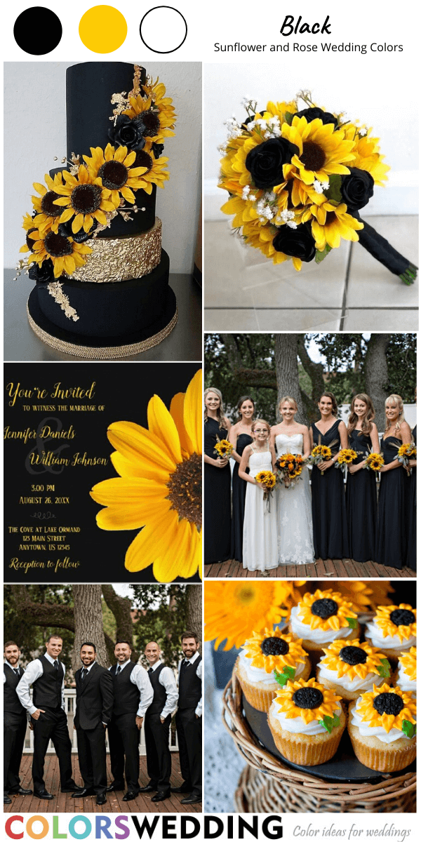 Perfect 8 Sunflower And Rose Wedding Color Combos In 2020 Sunflower Themed Wedding Sunflower Wedding Decorations Rose Wedding Theme