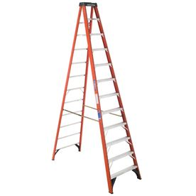 12 Ft Fiberglass 300 Lb Type Ia Step Ladder Step Ladders Platform Ladder Ladder