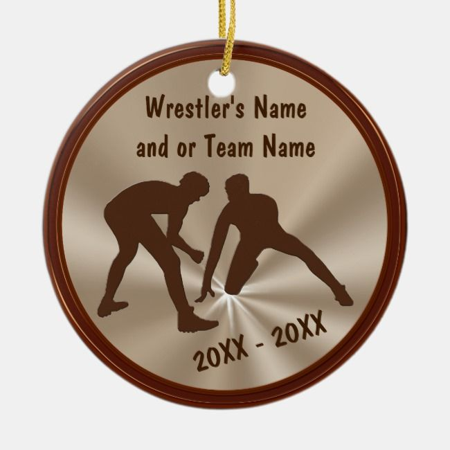 Personalized Wrestling Ornaments and Team Gifts | Zazzle ...