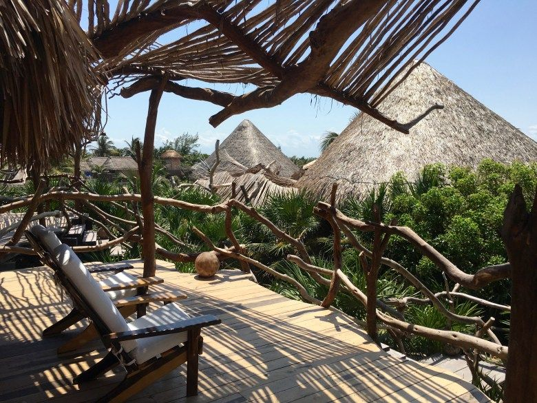 Azulik Eco Resort Tulum Treehouse Hotel Resort Maya Spa Outdoor Bath Mayan Ruins Cenotes Riviera Maya Luxury Travel Yoga Sanara Tu Outdoor Patio Umbrella Patio