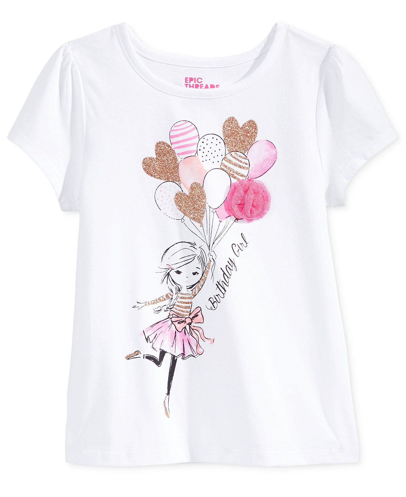 Epic Threads Mix And Match Birthday Girl Graphic-Print T