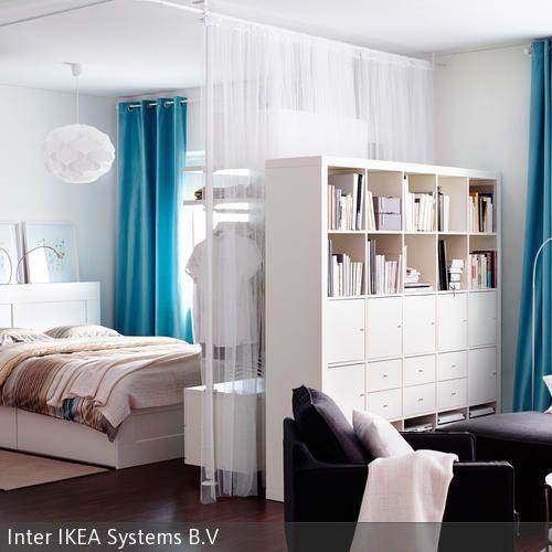 vorh nge als raumteiler. Black Bedroom Furniture Sets. Home Design Ideas