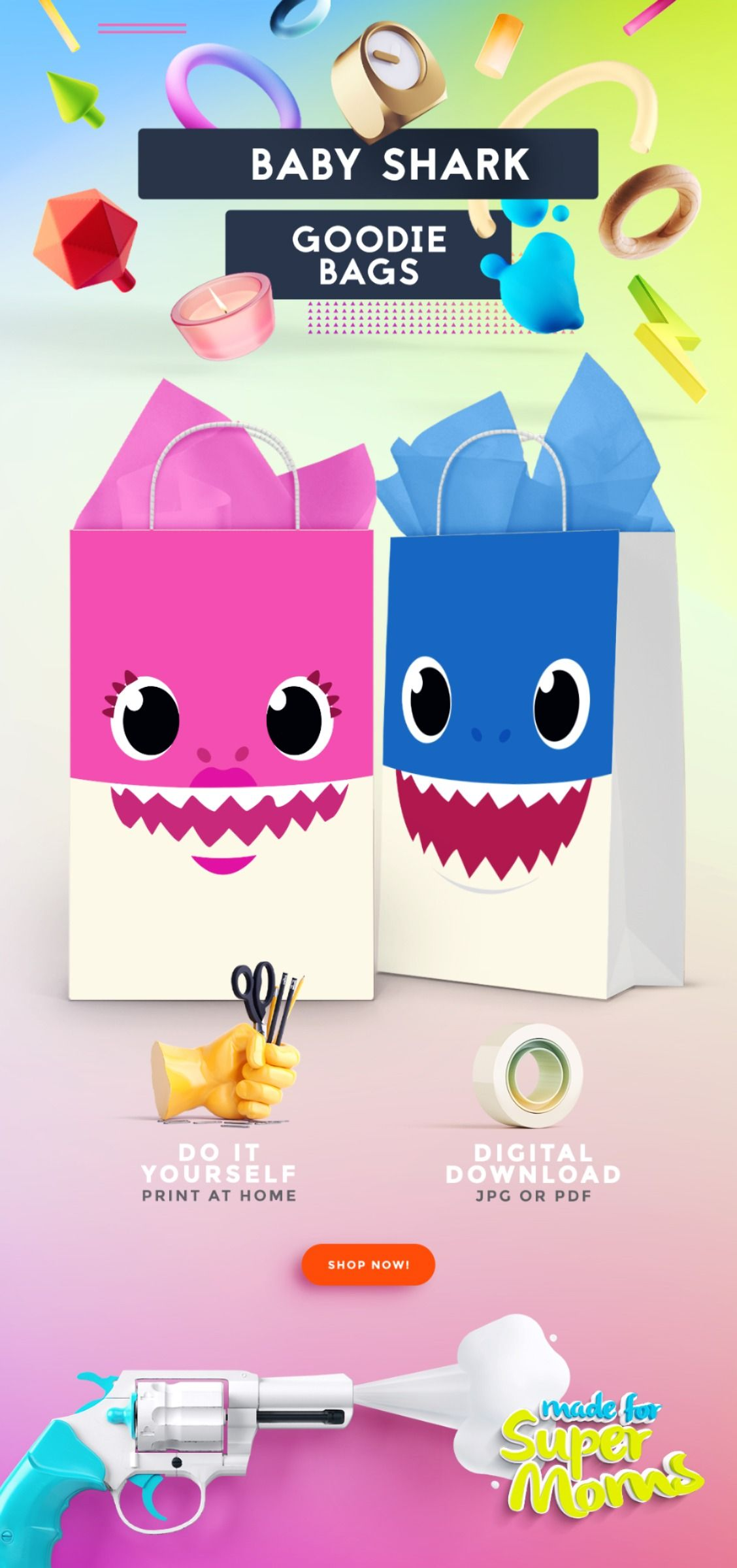 Baby Shark Goodie and Favor Bags