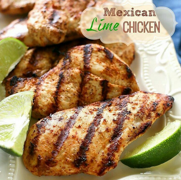 Mexican Lime Chicken Ingredients 1 Teaspoon Salt 1 Teaspoon Chili Powder Teaspoon Garlic Powder Cup Oil Cup Fresh Lime Juice 2 Lbs Chicken Breasts