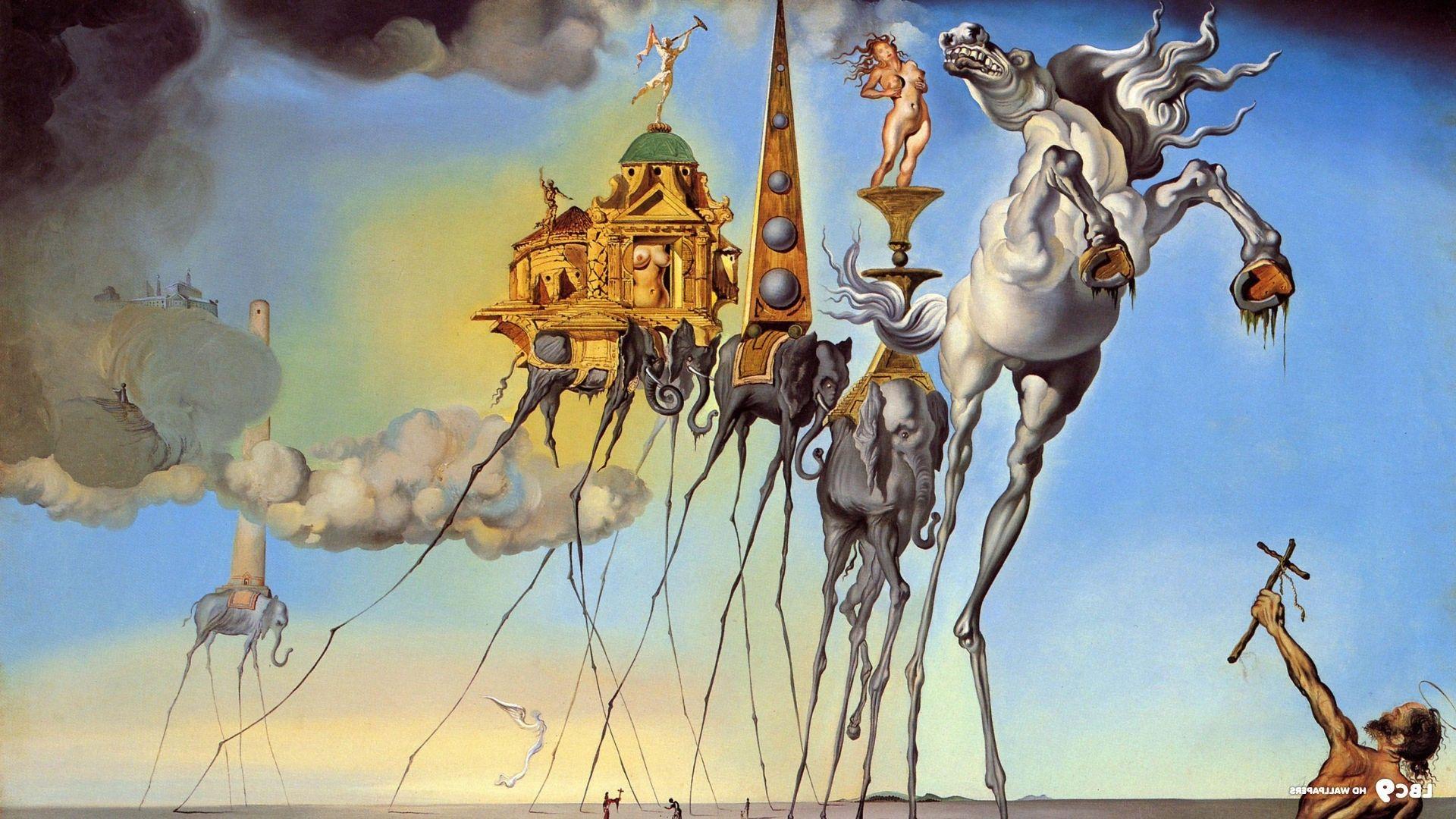 Salvador Dali Painting Fantasy Art Skull War Clocks Time Classic Art Wallpaper Salvador Dali Paintings Dali Paintings Mark Rothko Paintings
