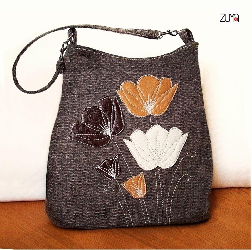 ELLIE Leather Flowers No.2    Kabelka slúži ako ukážka mojej tvorby ... 0787b243a06