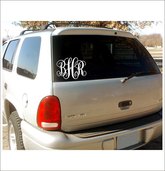 Vine monogram car window decal personalized custom vinyl decal everything else 5x7 preppy southern car decal