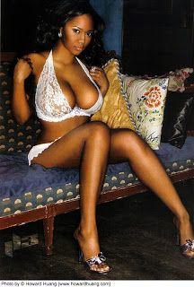 Huge boob black women