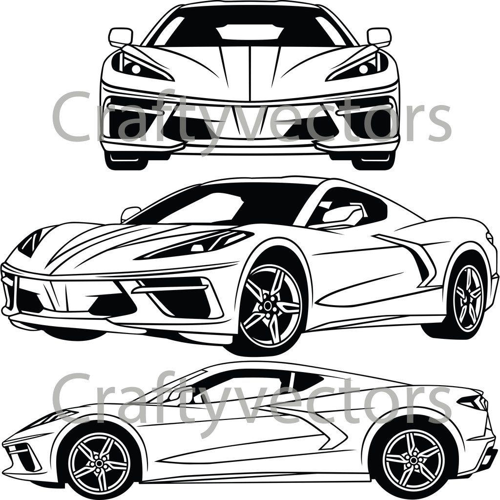 Chevrolet Corvette C8 2020 Vector In 2020 Chevrolet Corvette Chevrolet Corvette