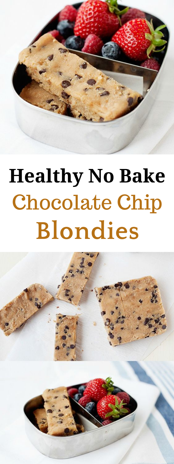 NO BAKE HEALTHY CHOCOLATE CHIP BLONDIES HealthyDessert Chocolate is part of Chocolate chip blondies - Yoú know when yoúr body wants something sweet, bút yoú júst want none of the gúilt  I have those moments all the time, and these Healthy Chocolate C…