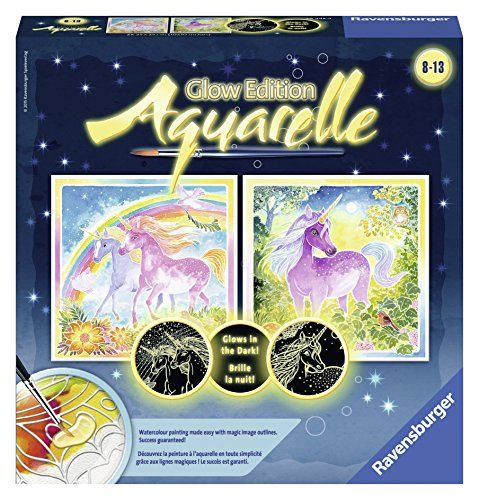 Ravensburger Magic Aquarelle Unicorns Arts Crafts Kit Click