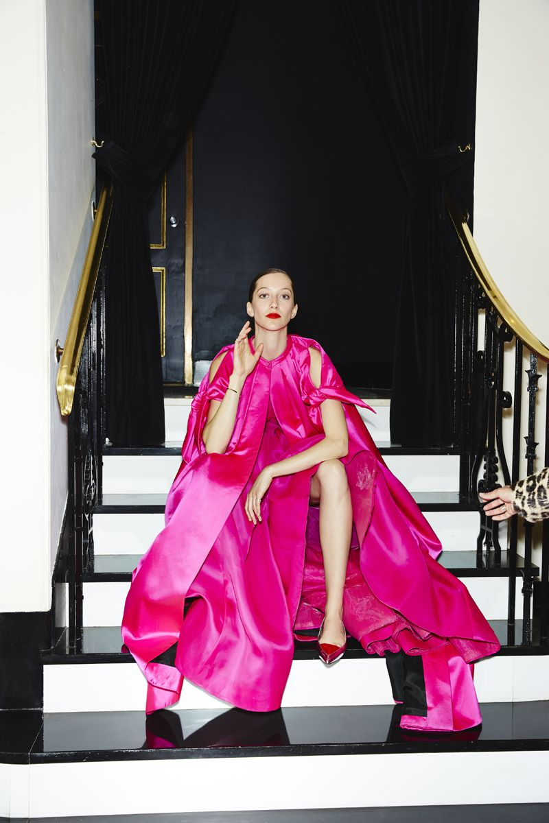 WOW...this is gorgeous! Throughout:Alana Zimmer in a Reem Acra gown ...