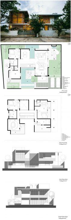 Courtyard House By Abin Design Studio Courtyard House Plans Courtyard House Architecture
