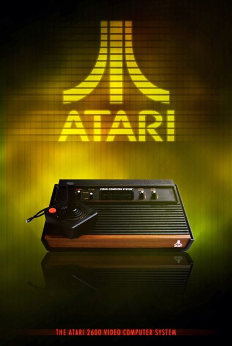 The Atari 2600 Video Computer System Posters Etc Pinterest